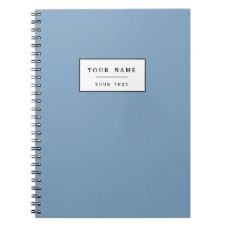 Color sólido de gama alta azul de la oscuridad libros de apuntes