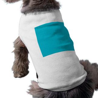 Color sólido de gama alta azul del equipo de camisa de mascota