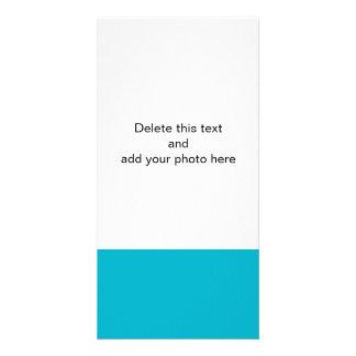 Color sólido de gama alta azul del equipo de tarjetas fotográficas personalizadas