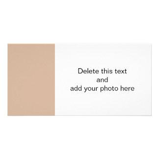 Color sólido de gama alta de la almendra tarjetas fotográficas