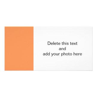 Color sólido de gama alta de la mandarina tarjeta personal con foto