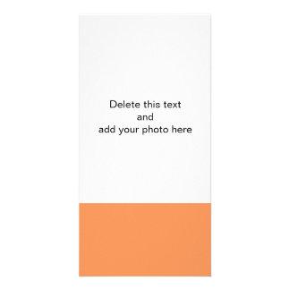 Color sólido de gama alta de la mandarina tarjeta fotografica personalizada
