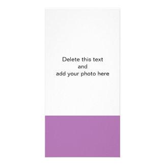 Color sólido de gama alta de la orquídea radiante tarjetas fotográficas