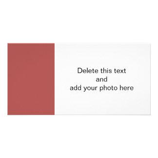 Color sólido de gama alta de Marsala Tarjeta Fotografica