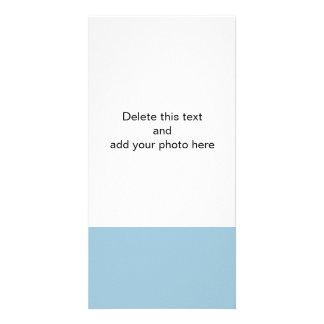 Color sólido de gama alta del azul de Aquamarine Tarjeta Fotográfica Personalizada