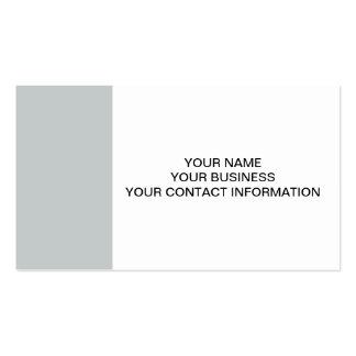Color sólido de gama alta gris del glaciar tarjetas de visita