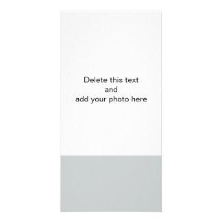 Color sólido de gama alta gris del glaciar tarjeta fotografica personalizada