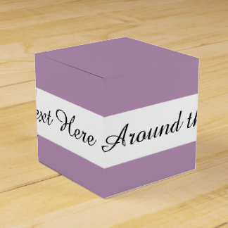 Color sólido de gama alta púrpura de la lavanda cajas para regalos de fiestas