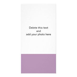 Color sólido de gama alta púrpura de la lavanda tarjetas personales con fotos