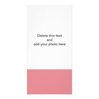 Color sólido de gama alta rosado de la fresa tarjeta fotográfica