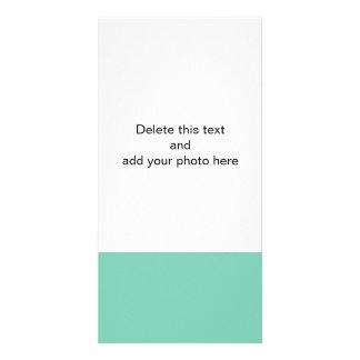 Color sólido de gama alta verde del lucite tarjetas fotograficas