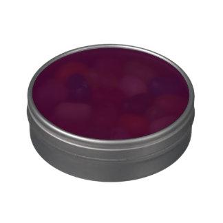 Color sólido de la cereza negra latas de dulces