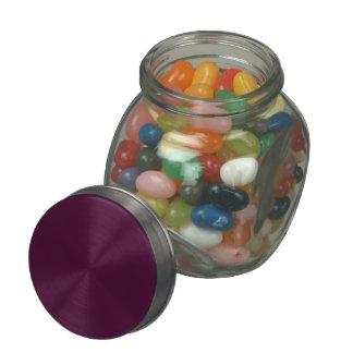 Color sólido de la cereza negra jarras de cristal