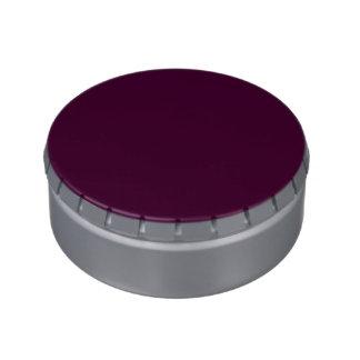 Color sólido de la cereza negra latas de caramelos