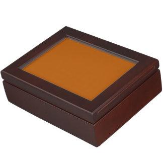 Color sólido de la especia de la calabaza cajas de recuerdos