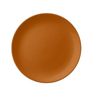 Color sólido de la especia de la calabaza platos de cerámica
