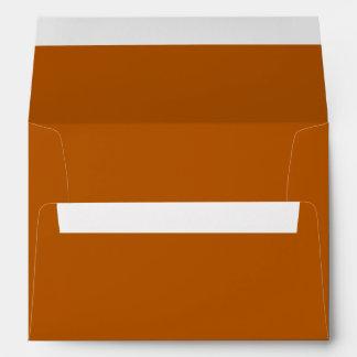 Color sólido de la especia de la calabaza sobres