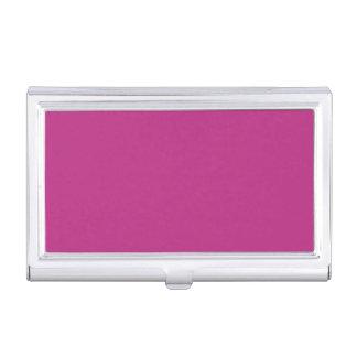 Color sólido de la frambuesa ligera cajas de tarjetas de visita