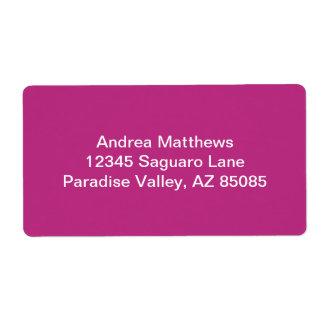 Color sólido de la frambuesa ligera etiqueta de envío