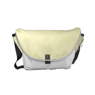 Color sólido de la gasa del limón bolsas messenger
