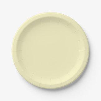Color sólido de la gasa del limón plato de papel 17,78 cm