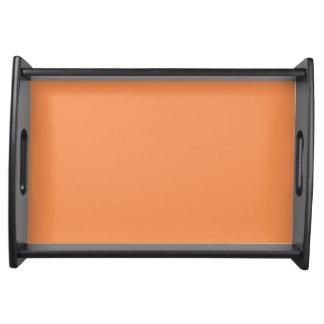 Color sólido de la mandarina de moda bandeja