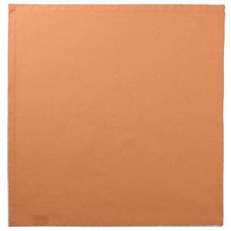 Color sólido de la mandarina de moda servilletas imprimidas