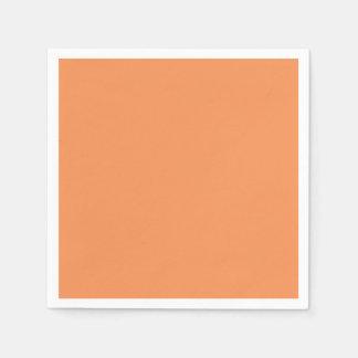 Color sólido de la mandarina de moda servilletas de papel