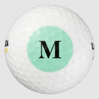 Color sólido de la menta pack de pelotas de golf