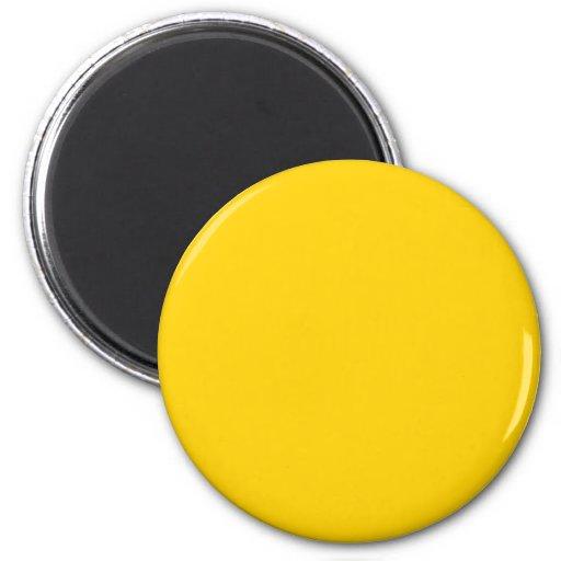 Color sólido de la moda amarilla amarilla imán para frigorífico