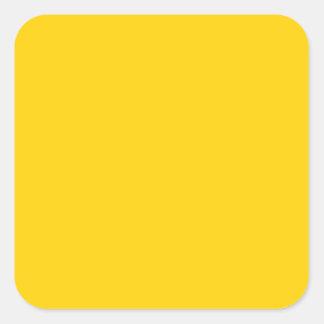 Color sólido de la moda amarilla amarilla colcomanias cuadradas personalizadas