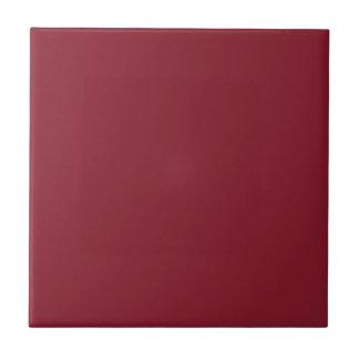 Color sólido de la moda del cinabrio - personaliza azulejo cuadrado pequeño