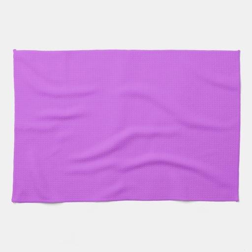 Color sólido de la orquídea media toalla de cocina