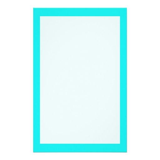 Color sólido de la turquesa papeleria