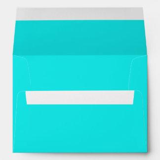 Color sólido de la turquesa sobres