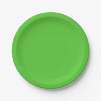 Color sólido de la verde lima plato de papel de 7 pulgadas