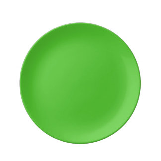 Color sólido de la verde lima platos de cerámica