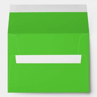 Color sólido de la verde lima sobres