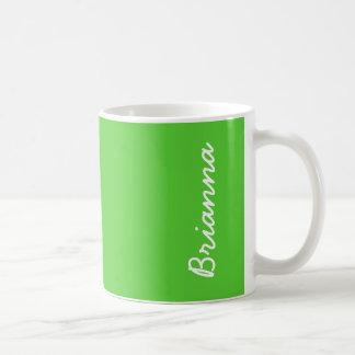 Color sólido de la verde lima taza básica blanca
