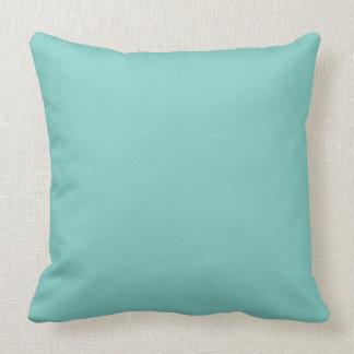 Color sólido de la verde menta de la menta almohada
