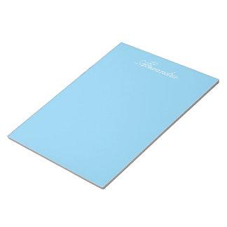 Color sólido de los azules cielos bloc de notas