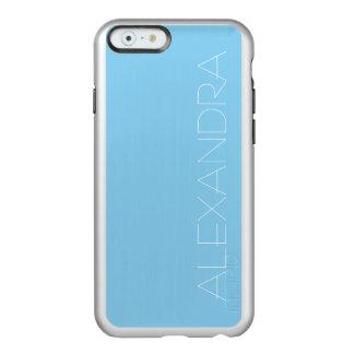 Color sólido de los azules cielos funda para iPhone 6 plus incipio feather shine
