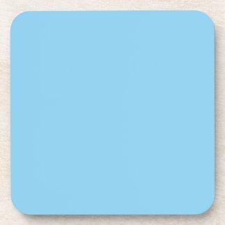 Color sólido de los azules cielos posavasos