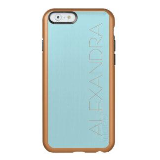 Color sólido de los azules claros funda para iPhone 6 plus incipio feather shine