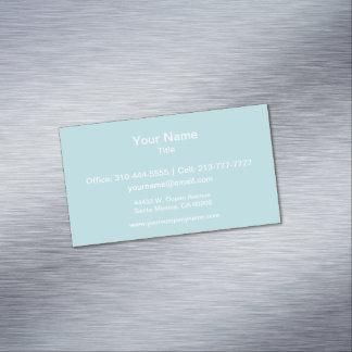 Color sólido de los azules claros tarjetas de visita magnéticas (paquete de 25)