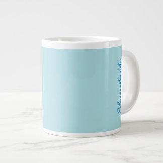 Color sólido de los azules claros taza grande