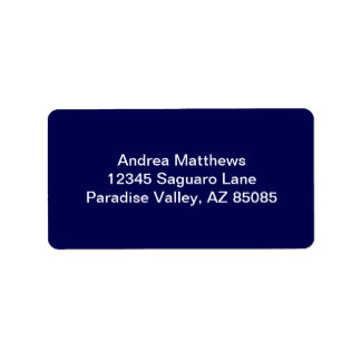 Color sólido de los azules marinos etiqueta de dirección