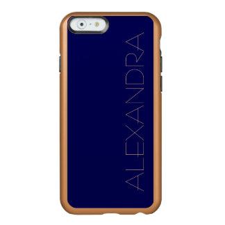Color sólido de los azules marinos funda para iPhone 6 plus incipio feather shine