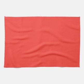 Color sólido de los salmones rojos toallas de cocina