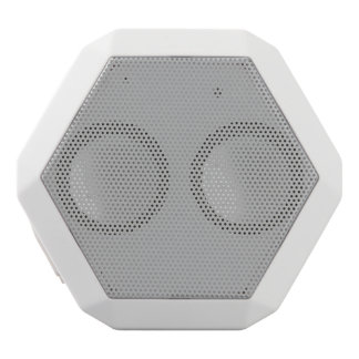 Color sólido de plata altavoces bluetooth blancos boombot REX